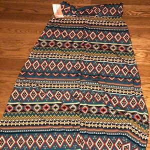 NWT honey and lace tribal maxi skirt